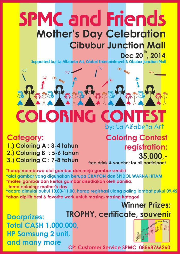 tanggal bener COLORING SPMC AND FRIENDS MOTHERS DAY